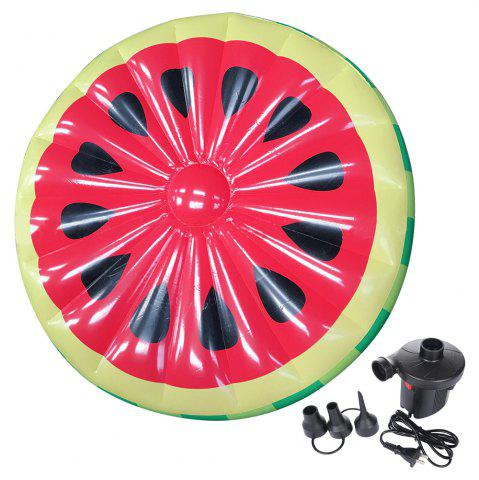 Shops Inflatable Watermelon Pool Lounger Swimming Floating Float Bed and Electric Charge Pump