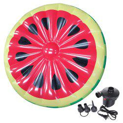 Inflatable Watermelon Pool Lounger Swimming Floating Float Bed and Electric Charge Pump -
