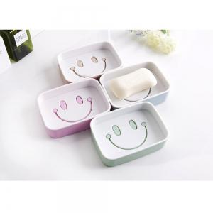 1PCS Plastic Double Layer Soap Box Smile Face dish Bathroom Shower Container Storage -