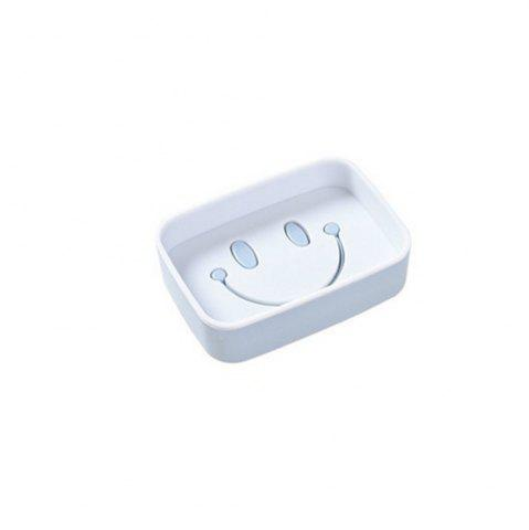 Cheap 1PCS Plastic Double Layer Soap Box Smile Face dish Bathroom Shower Container Storage
