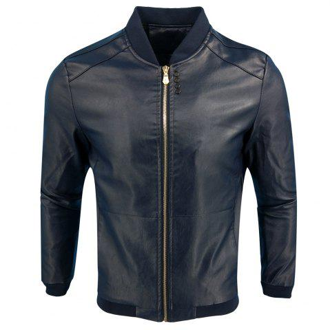 Unique Autumn Winter Fashion Casual Baseball Leather Jacket