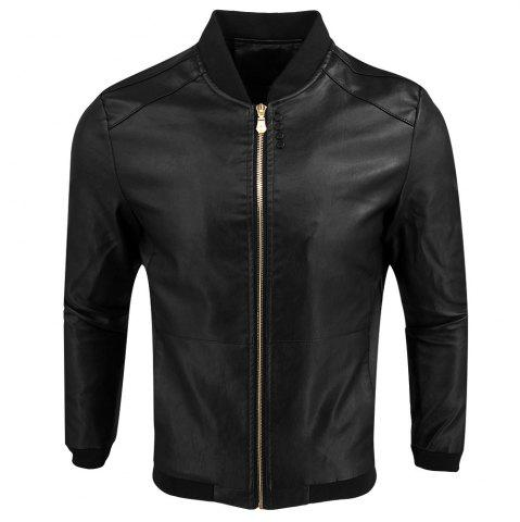 Outfit Autumn Winter Fashion Casual Baseball Leather Jacket