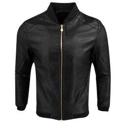 Autumn Winter Fashion Casual Baseball Leather Jacket -