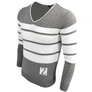 Spring and Autumn Fashion Casual  Long-Sleeved V-Neck Knit Sweater -