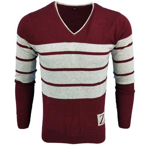 New Spring and Autumn Fashion Casual  Long-Sleeved V-Neck Knit Sweater