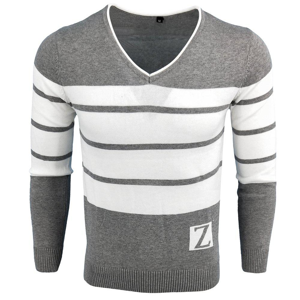 Latest Spring and Autumn Fashion Casual  Long-Sleeved V-Neck Knit Sweater