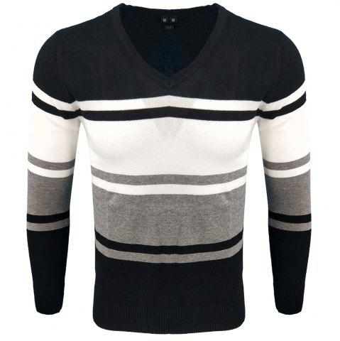 Hot Spring and Autumn Long-Sleeved Hit Color Fashion  Knit Sweater