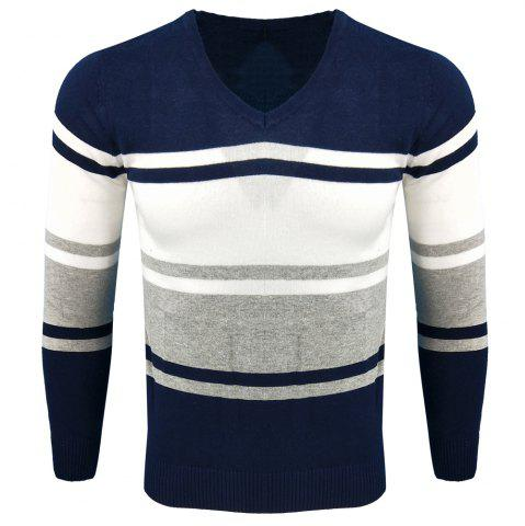 Store Spring and Autumn Long-Sleeved Hit Color Fashion  Knit Sweater