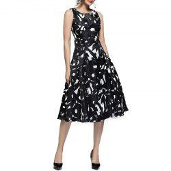 Fashion Ink Printing Vest Dress -