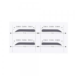 Flat Brows Paste Lazy Eyebrow Card 8 Pairs -