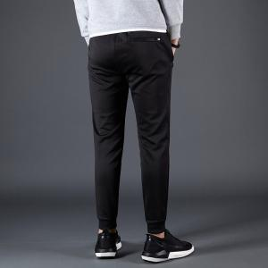 Male Black Beam Foot Sports and Leisure Jogging Pants -