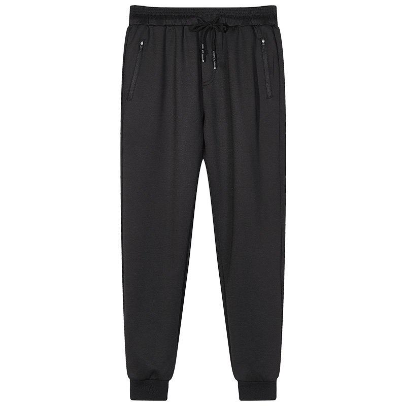 Discount Male Black Beam Foot Sports and Leisure Jogging Pants