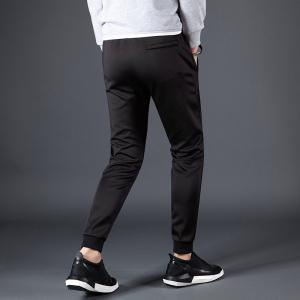 Male Solid Color Beam Foot Sports and Leisure Pants -