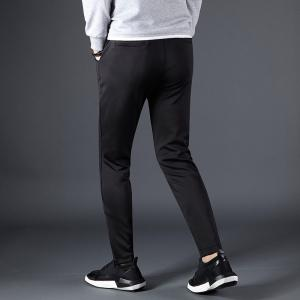 Men's Color Beam Foot Zipper Sports and Leisure Pants -