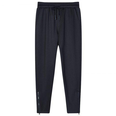 New Men's Color Beam Foot Zipper Sports and Leisure Pants
