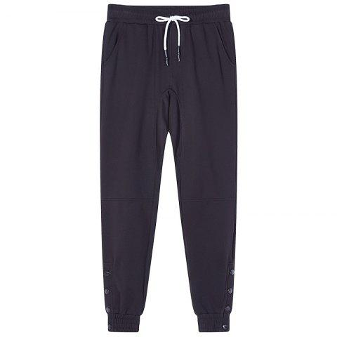 Chic Men's Bust Button Sports and Leisure Pants