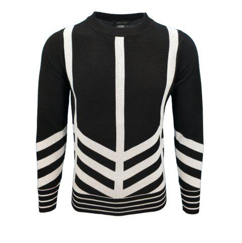 Unique Mens Fashion Casual Knit Pullover All-Match Young Men