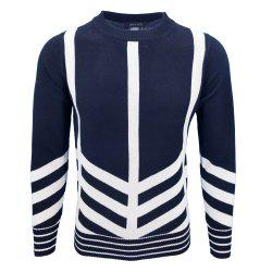 Mens Fashion Casual Knit Pullover All-Match jeunes hommes -