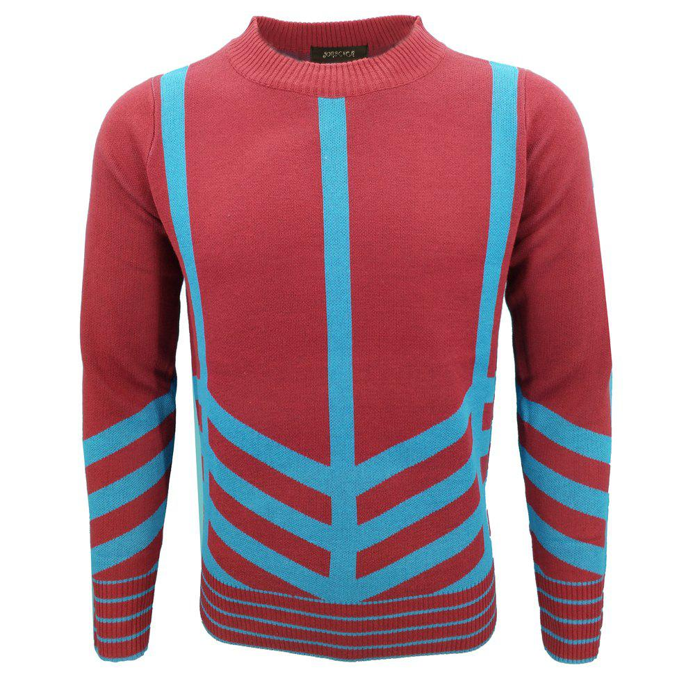 Chic Mens Fashion Casual Knit Pullover All-Match Young Men
