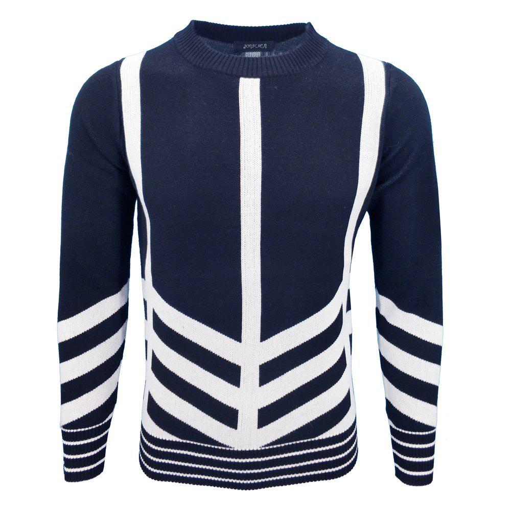 Mens Fashion Casual Knit Pullover All-Match jeunes hommes
