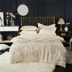 2018 New Bedding Sets Full Queen Size Cotton Satin Jacquard Duvet Cover Set MDQ -