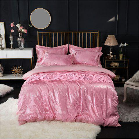 Chic 2018 New Bedding Sets Full Queen Size Cotton Satin Jacquard Duvet Cover Set HYAR-F