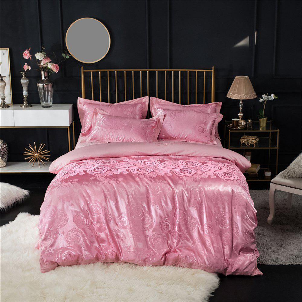 Outfits 2018 New Bedding Sets Full Queen Size Cotton Satin Jacquard Duvet Cover Set HYAR-F