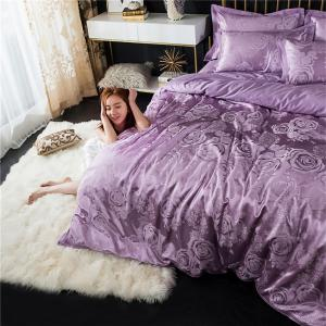 2018 New Bedding sets full queen size cotton satin jacquard duvet cover set HYAR-XQ -