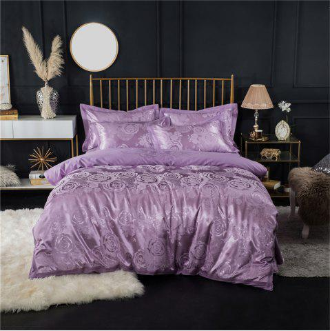 Fancy 2018 New Bedding sets full queen size cotton satin jacquard duvet cover set HYAR-XQ