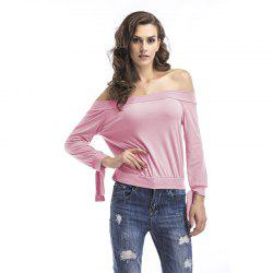 Long Sleeves  Off Shoulder  T-Shirt -