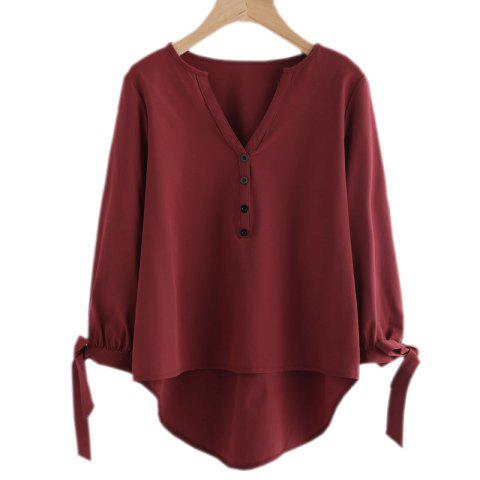Outfit Hot Style Long Bow Blouse with Long Sleeves