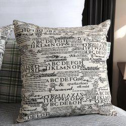 Creative Letter Print Decorative Square Pillowcase -