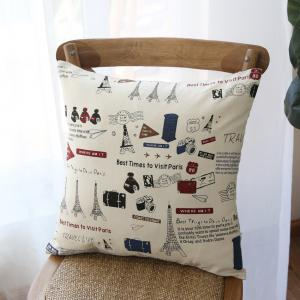 Decorative Pillowcase Chic Towers Pattern Square Comfy Cushion Cover -