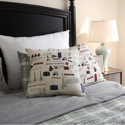 Chic Decorative Pillowcase Chic Towers Pattern Square Comfy Cushion Cover