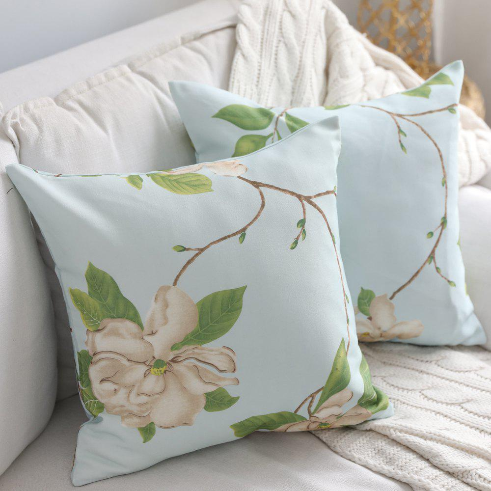 Shops Home Decorative Pillowcase Bright Vivid Flower Pattern Sofa Cushion Cover