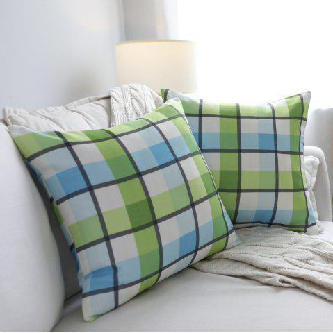 Unique Sofa Cushion Cover Fresh Plaids Pattern Square Supple Pillowcase