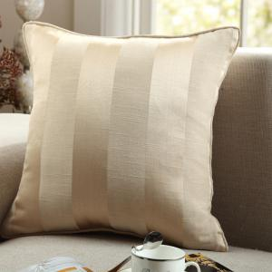 GyroHome Pack of 2 Cotton Jacquard Strips Cushion Covers  Pillow Three Colors 18 X 18 Inches -