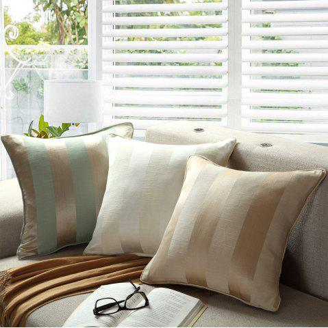 Trendy GyroHome Pack of 2 Cotton Jacquard Strips Cushion Covers  Pillow Three Colors 18 X 18 Inches