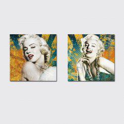 QiaoJiaHuaYuan There is No frame Canvas Living Room Sofa Background Double Couplets Painting Figure Marilyn Monroe -