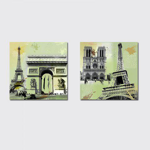 Cheap QiaoJiaHuaYuan Unframed Canvas Living Room Sofa Background Double - Link Painting of European and American Architecture
