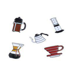 5 Pcs Women's Brooch Brief Color Block Geometry Design Charming Accessory -