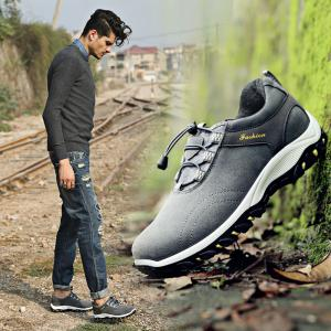 Men Casual Outdoor PU Leather Thick Sole Climbing Shoes -
