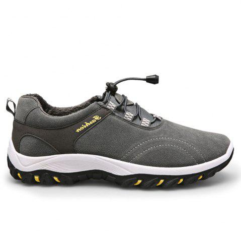 Fancy Men Casual Outdoor PU Leather Thick Sole Climbing Shoes