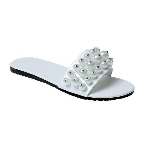 Cheap TY-805 Pearl Dew Toe Flat Bottom Antiskid Slippers