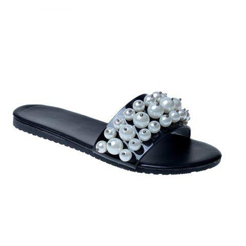 Fashion TY-805 Pearl Dew Toe Flat Bottom Antiskid Slippers