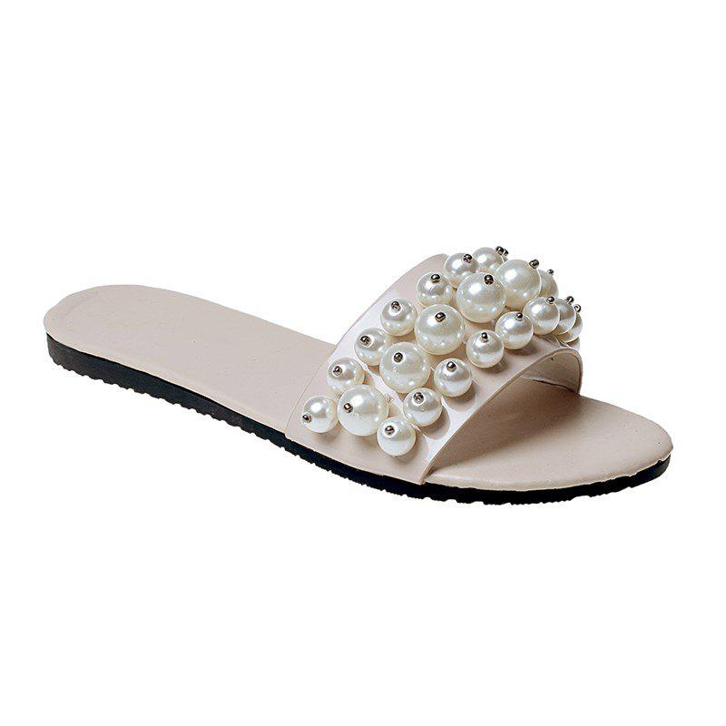Buy TY-805 Pearl Dew Toe Flat Bottom Antiskid Slippers