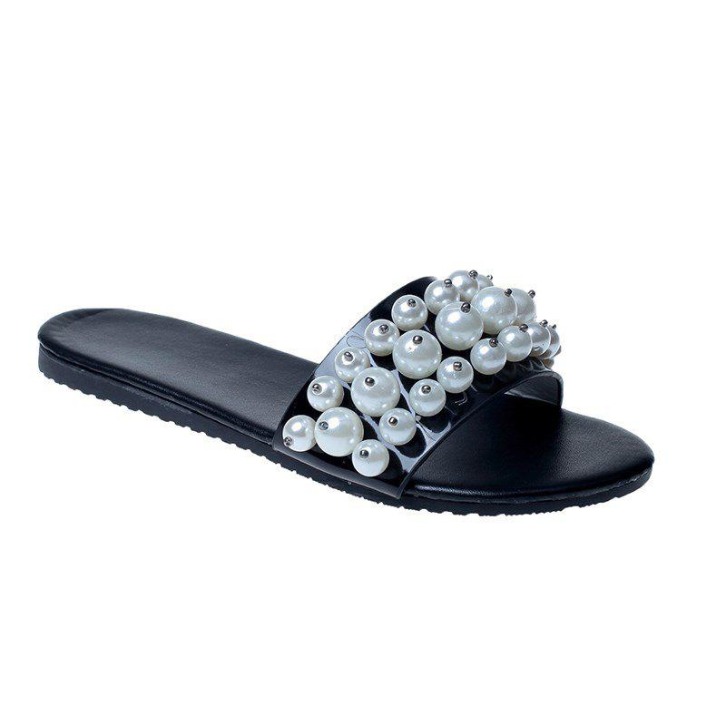 Shop TY-805 Pearl Dew Toe Flat Bottom Antiskid Slippers
