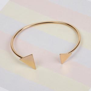 Fashion Size Triangular Open Bracelet Sterling Silver Plated Jewelery -