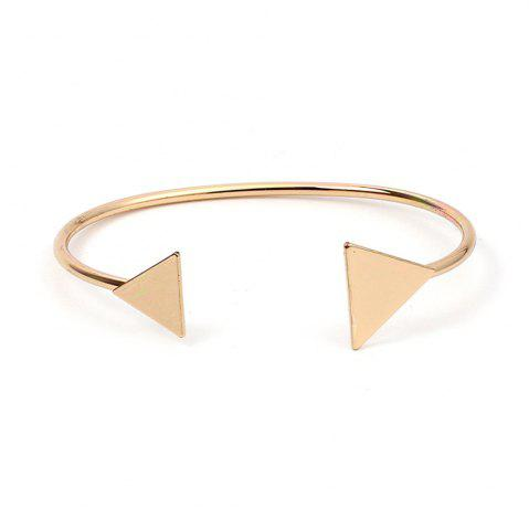 Fancy Fashion Size Triangular Open Bracelet Sterling Silver Plated Jewelery