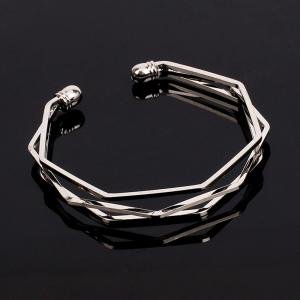 Fashion Wild Irregular Diamond Geometric Polygonal Open Bracelet -